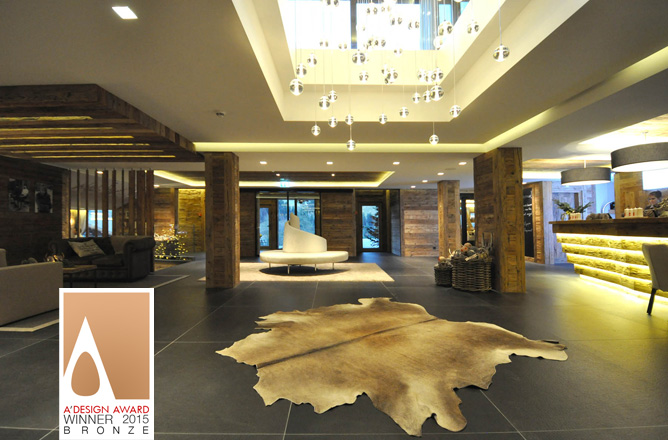 Bronze A'Design Award 2015 - Interior design & Exhibition spaces - Hotel & Résidences de Rougemont